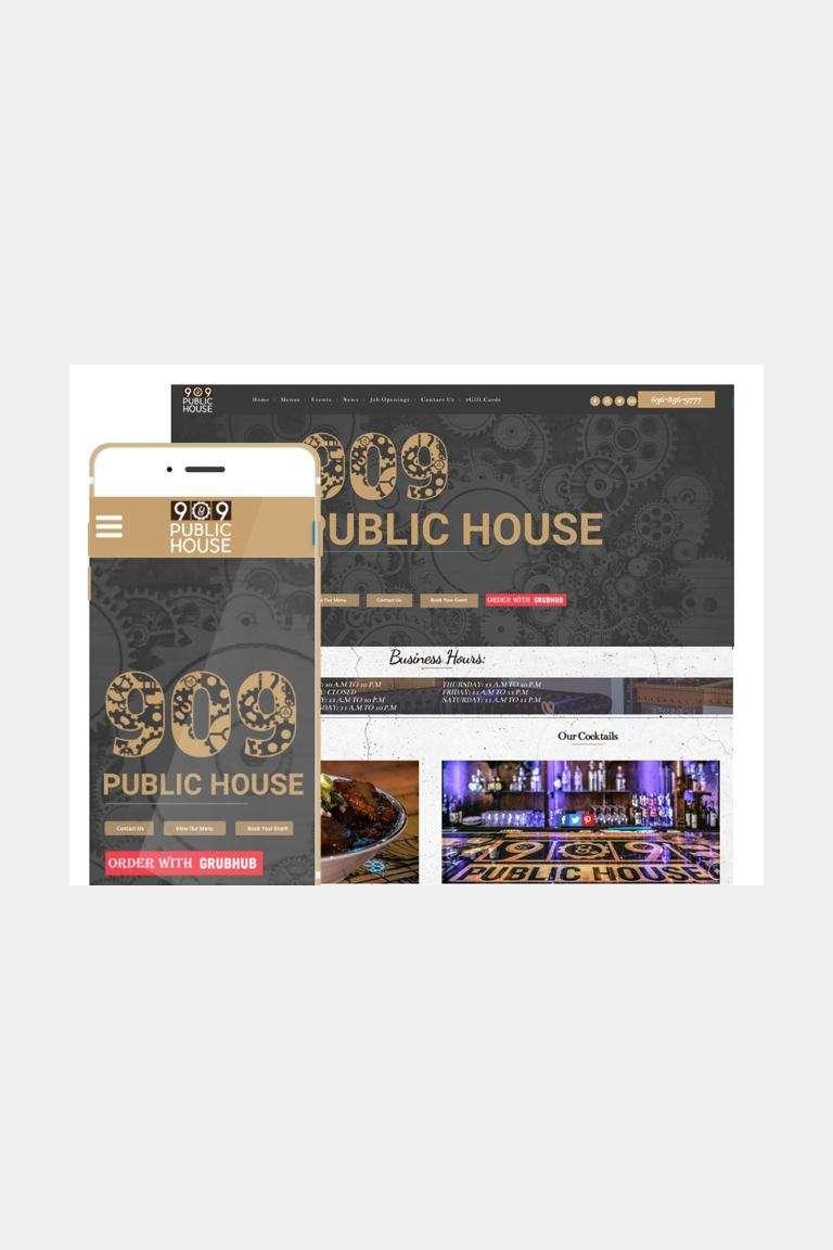 909 responsive website